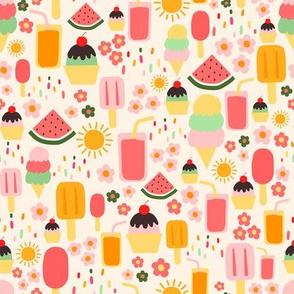 (S) Summertime Treats  - Small on Cream