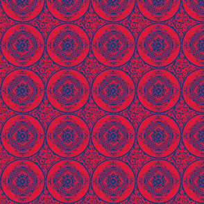 Red and Blue Round Stencils