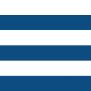"""1"""" Classic Blue and White Stripes - Horizontal - 1 Inch / 1 In / 1in"""