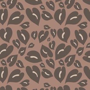 Anthurium Leopard  browns- Smaller Scale