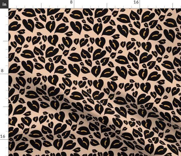 Anthurium Leopard Print Large Pouch