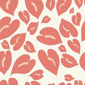 Anthurium Leopard in coral berry