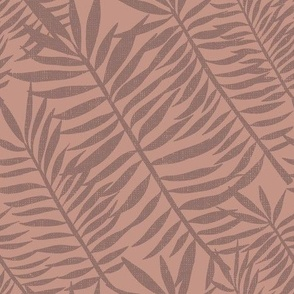 Palm frond tiger stripes on nude