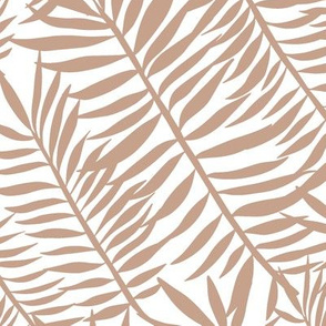 Palm frond tiger stripes on white