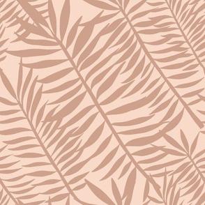 palm frond tiger stripes on blush