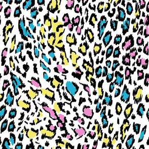 colourful leopard neon