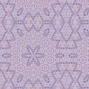 Violet pastel geometric hexagon classic elegant pattern