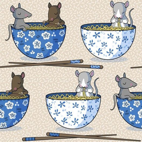 Rats in hot noodle baths