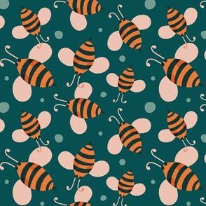 Bee Happy - Teal Regular Scale
