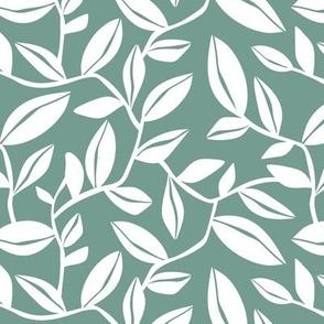 Orchard - Botanical Leaves Green Regular Scale