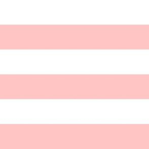 """1"""" Blush Pink and White Stripes - Horizontal - 1 Inch / 1 In / 1in"""