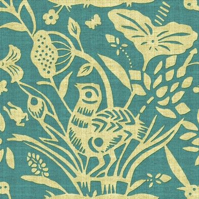 Papercut Garden (Turquoise)