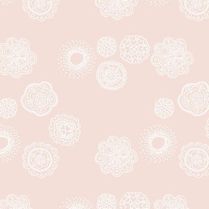 Blossom mandala abstract flower illustrations sweet romantic floral boho design spring summer soft beige sand