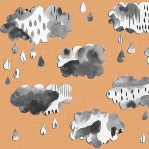 Paper Clouds - on Peach