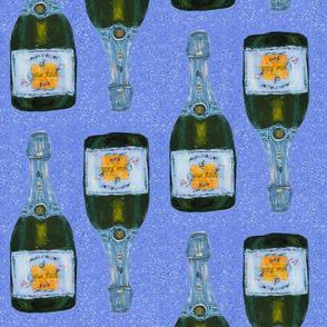 "blue champagnes - half drop repeat- 10.5"" bottles"