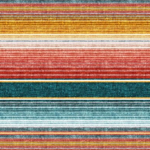 (extra small scale) serape southwest stripes - teal -  C20BS