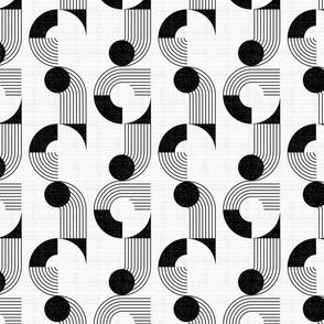 Bauhaus noodle bowl-black and white-medium scale