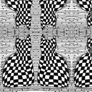 Checkerboard cats 2