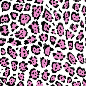 Colourful cheetah pink