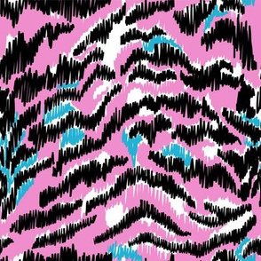 Colourful tiger neon pink