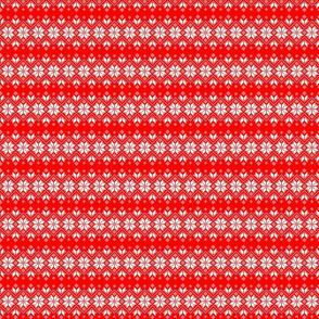 Wellspring - Star Alatyr - Ethno Ukrainian Traditional Pattern - Slavic Symbol - 2 Smaller - White on Red