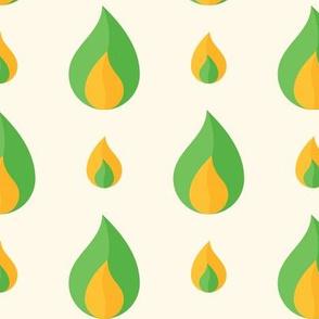 Geometric Pattern: Flame: Light Green