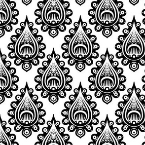 Black and White Drop Tiled