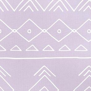 Minimal mudcloth bohemian mayan abstract indian summer love aztec linen texture violet lavender JUMBO