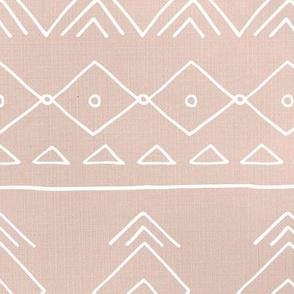 Minimal mudcloth bohemian mayan abstract indian summer love aztec linen texture beige sand white JUMBO