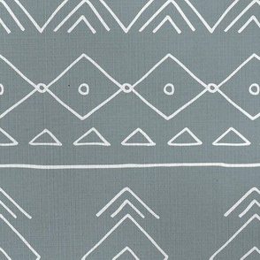 Minimal mudcloth bohemian mayan abstract indian summer love aztec linen texture stone gray white JUMBO