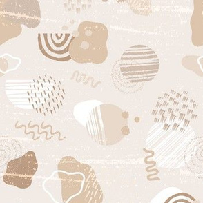 Modern Geometric and Abstract  Shapes in Dusty Hues