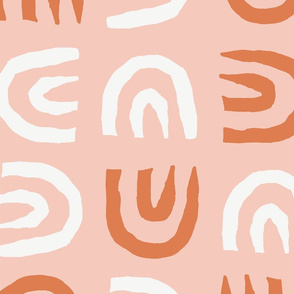 Tribal Arch | Peachy Pink + Rust