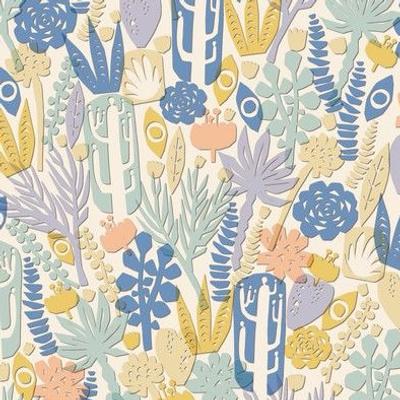 Succulent Garden Papercut - Summer