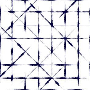 Tie-Dye Blue Grid
