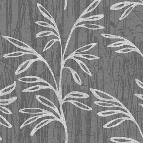 Grass Flower Big Medium Grey