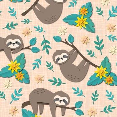 sloth papercut small