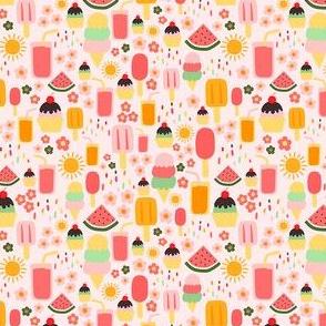 (XS) Summertime Treats - XS on Soft Pastel Pink