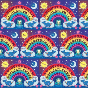 Rainbow Mermaid Spirit Board Brick Pattern