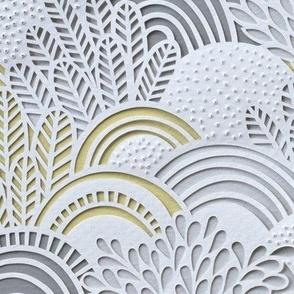 Paper Garden- Floral Faux Texture- Paper Cut Napkins