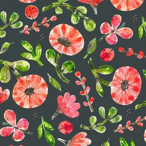 Paper Cut Summer Bloom Gray - © Lucinda Wei