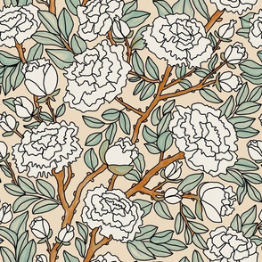 White Peonies on Camel