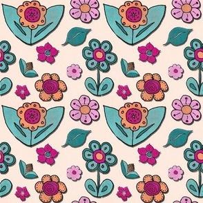 papercut flowers brighter color set