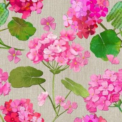 Paper Cut Geraniums