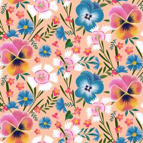 pansy cornflower dianthus garden small