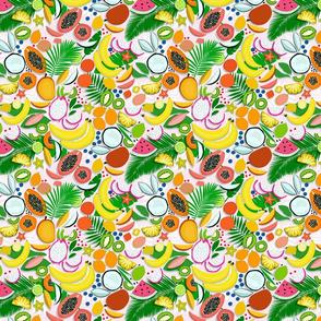 Fresh Fruits and Palms / Papercut Napkin