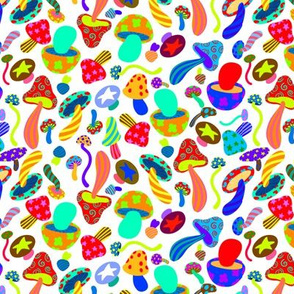 Rainbow Colorful Mushrooms 1