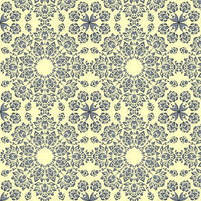 Seamless vector pattern with paper cut flowers on light background. Floral lace snowflake wallpaper design.