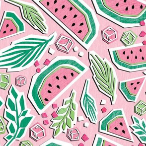Watermelon Summer Cut Paper