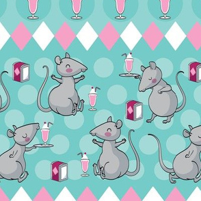 Vintage milkshake rat café