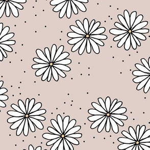 Little sprinkles daisy garden boho spring daisies in trend colors soft sand yellow